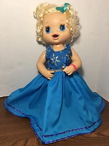 """0591d78ab0edc Image Unavailable. Image not available for. Color: Fits 15"""" 16""""  Baby Alive Doll Clothes Princess Snow Winter Fairy ..."""
