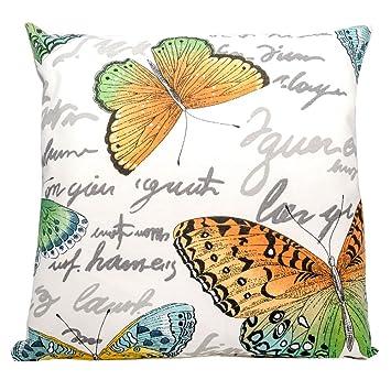 Kissenhülle Kissenbezug Dekokissen 100/% Baumwolle 40x40 cm Schmetterlinge