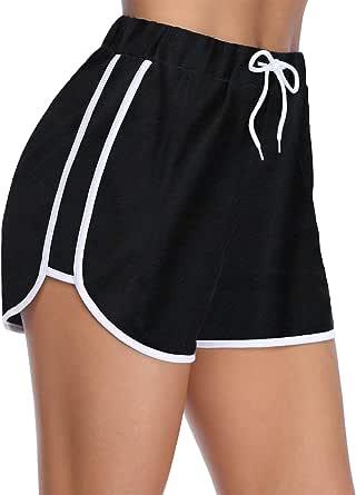 iClosam Women's Dolphin Shorts Elastic Waist Yoga Running Workout Athletic Shorts Lounge Shorts with Pockets