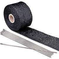 Yescom 5m x 50mm Exhaust Shield Tape Turbo Insulation Heat Wrap Webbing Pipe + 6 Ties