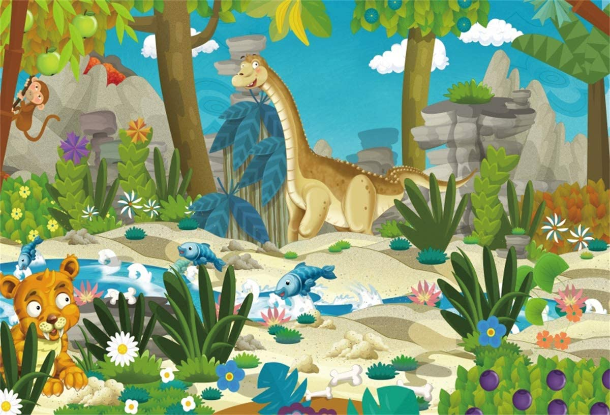 10x8ft Cartoon Tiger Backdrop Baby Photography Props Photo Studio Background LYFU269