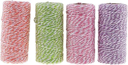 IPOTCH 4 Piezas Cuerda de Algodón Hilo Decorativo Hilos para ...