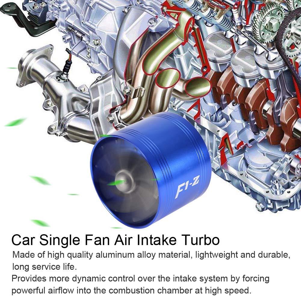 EBTOOLS Auto 64mm Turbina di aspirazione su un lato Nero Turbina di aspirazione dellaria Turbina a ventola singola Caricatore eccellente Gas Risparmio carburante Turbo