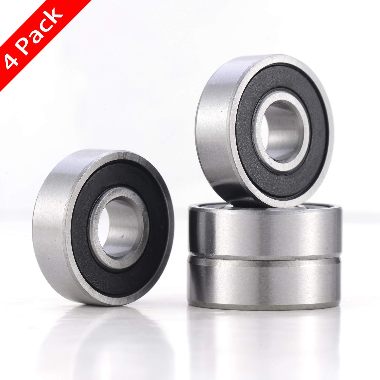 Pre-Lubricated Ball Bearing 5//8x1 3//8x7//16 inch 4 Pack 99502H Bearings 99502H Sealed Ball Bearing