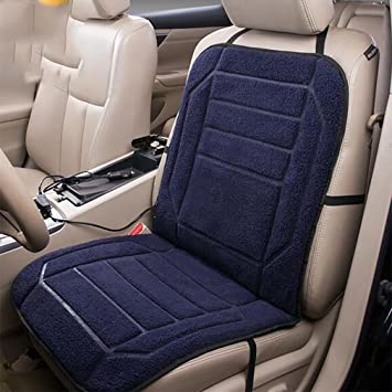 LPY Deluxe Heated Car Seat Cushion With Built In Thermostat And Auto Shut