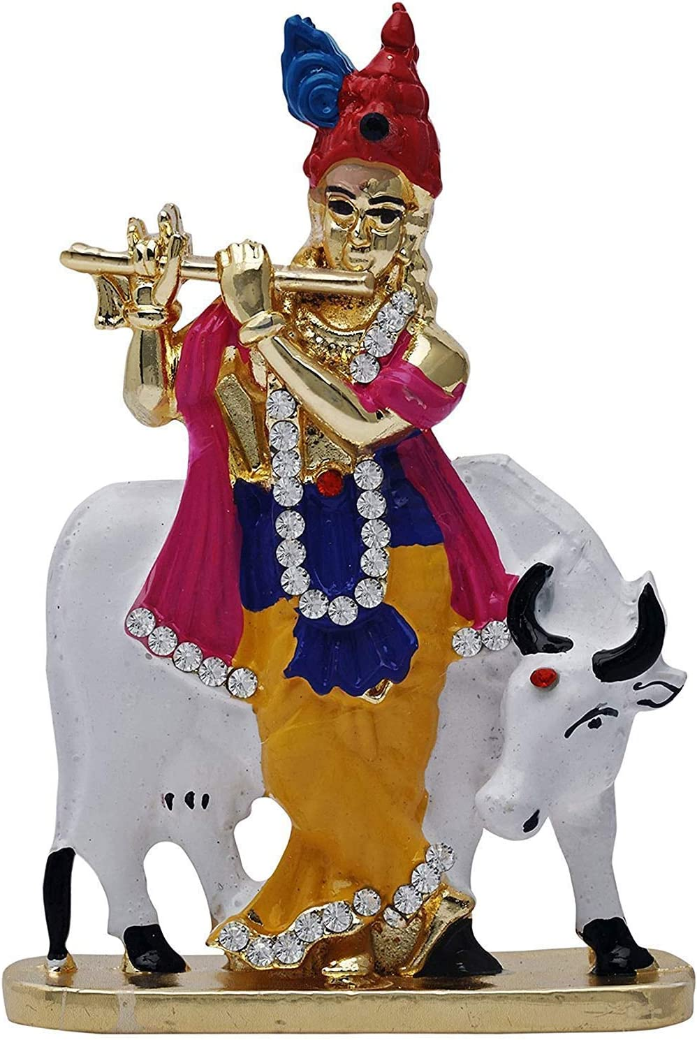 Artisans Orissa Krishna Idol for Car Dashboard/Home/Office Item