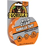 Gorilla Crystal Clear Tape, Duct, Utility, Non-Yellowing, Heavy Duty, Extra Thick Adhesive, Flexible, UV Temperature…