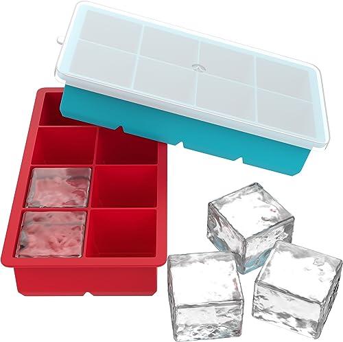 Vremi Large Silicone Ice Cube Trays