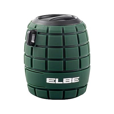 Elbe ALT-22WR-BT - Altavoz Bluetooth, con forma de granada, Aux-In, color verde