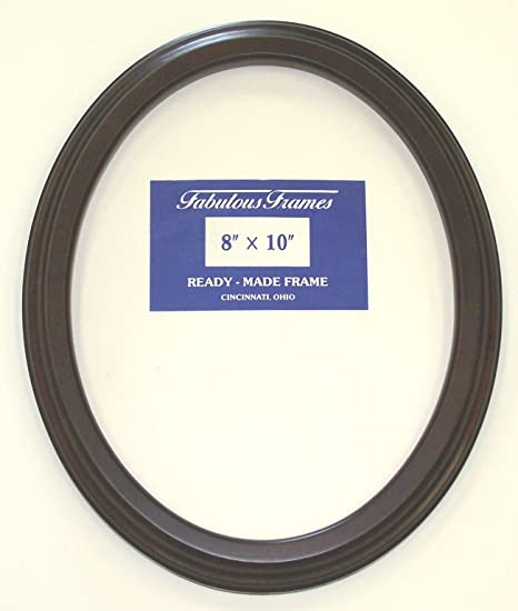 Amazoncom Oval Mahogany Picture Frame 8x10 No Glass Other