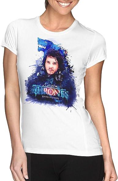 Camiseta Mujer Serie Televisión Juego de Tronos - Game of Thrones, Jon Nieve: Amazon.es: Ropa y accesorios