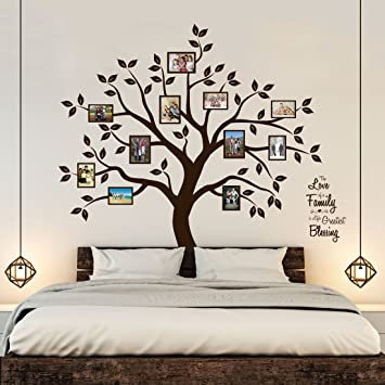 Superior Timber Artbox Beautiful Family Tree Wall Decal With Quote   The Only Décor  You Need For Part 20