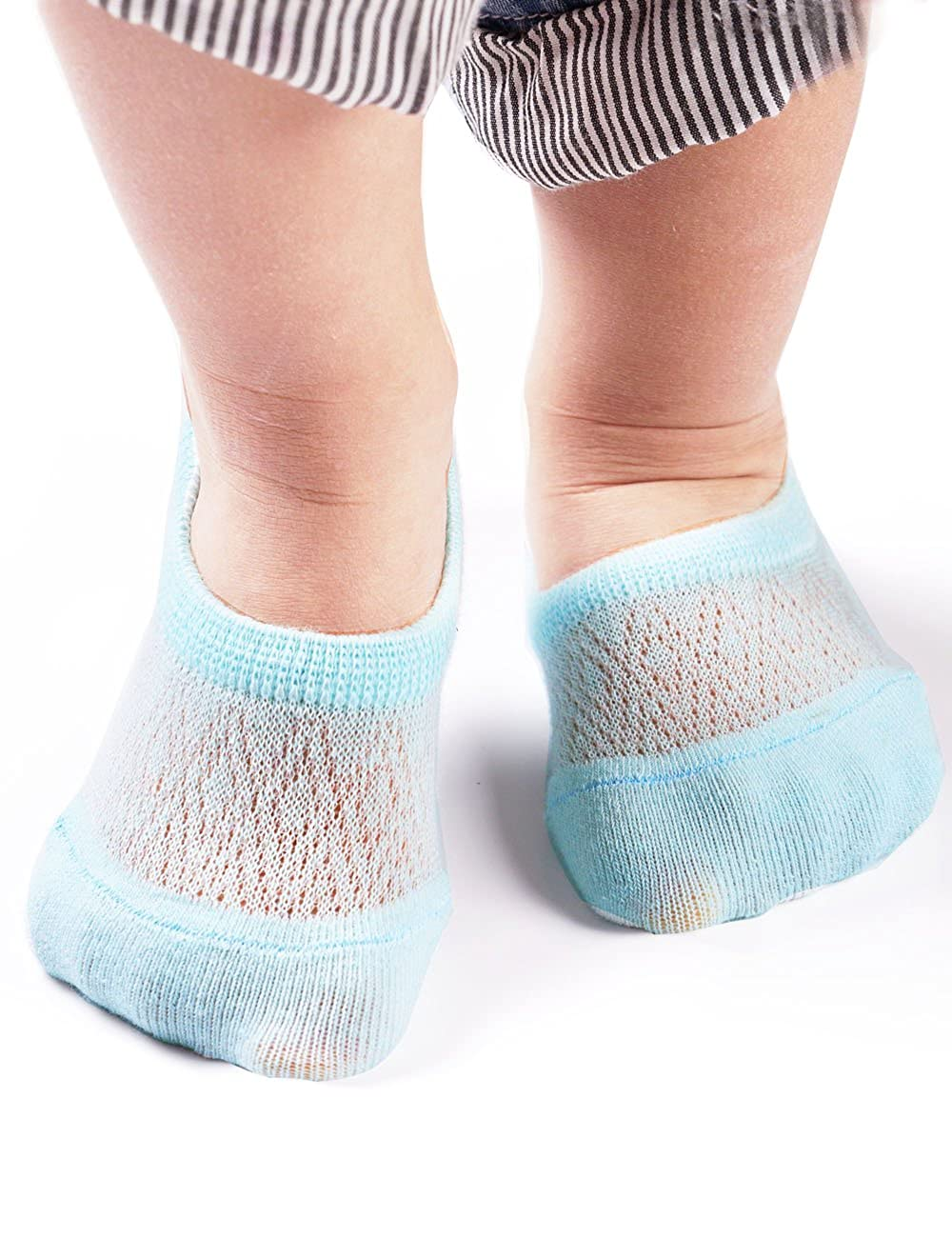 BabaMate 6 Pairs Baby No Show Socks - Soft Cotton Ideal for Spring Summer