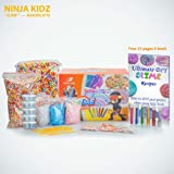 Slime Making Kit Supplies: Including Rainbow Foam Beads, Fishbowl Beads, 12 Glitter pack, Fruit and Flower Slices,Slime CuttingTools, 20 Large Containers, Free Ebook - DIY Slime and Clay decoration