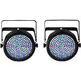 (2) Chauvet SlimPar 64 LED DMX Slim Par Can Stage Pro DJ RGB Lighting Effects