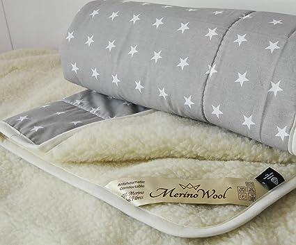 Edredón pura lana de oveja merina esponjada Natural y cálida manta de lana de merino de