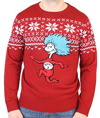 Dr Seuss Thing 2 Is After You Adult Ugly Christmas Sweater Amazon