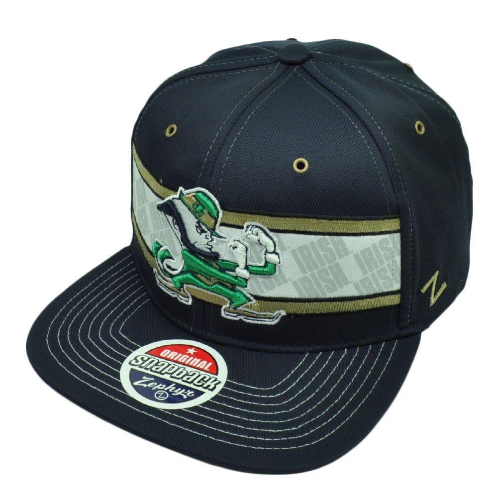 953a53620a6c6 ... order amazon zhats notre dame fighting irish snap back hat ncaa osfa snapback  cap navy blue
