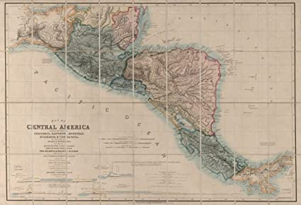 Mexico Map 1850.Amazon Com Map 1850 Of Central America Including The States Of