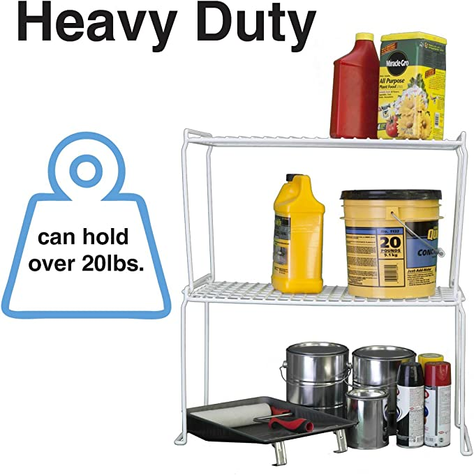 Square Heavy Duty Stacking Shelf Grayline 44021 White
