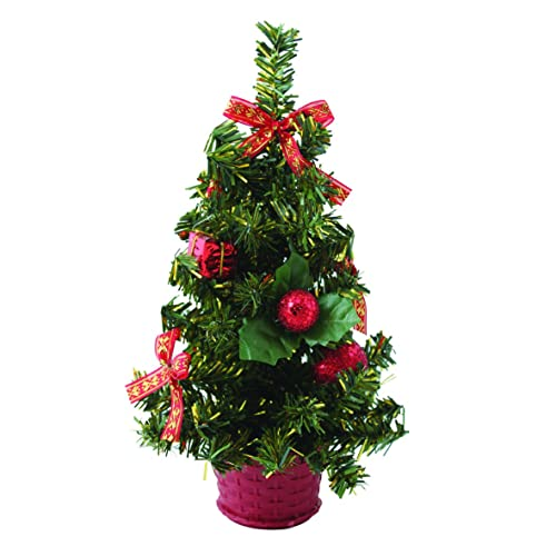 red small christmas desk tree