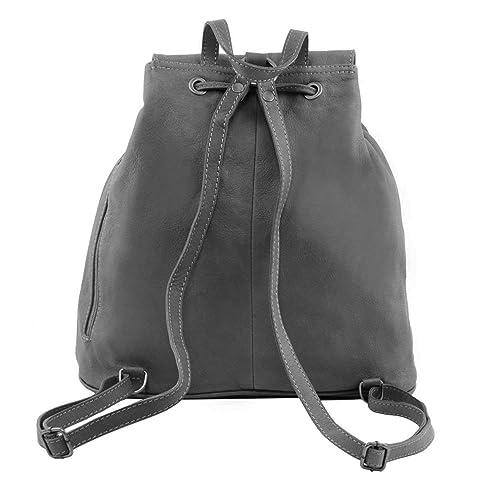 Seoul - Sac à dos en cuir Grand modèle - Noir Tuscany Leather OyJ4Gx5wd