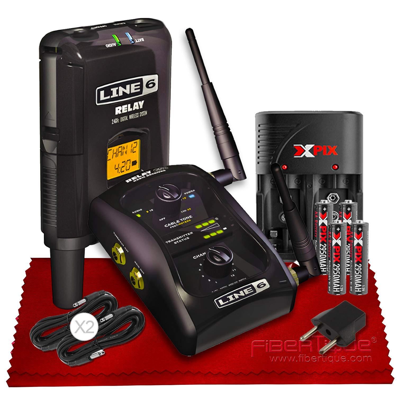Line 6 Relay G50 Wireless Guitar System - Wired Tone, Wireless Freedom w/Power Kit Bundle by Line-6