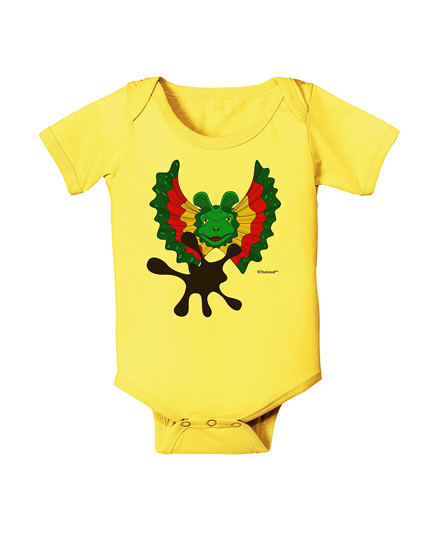 TooLoud Dilophosaurus Design Spit Baby Romper Bodysuit