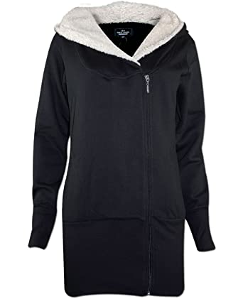 Genetic Apparel Ladies GA104 Fur Lined Hooded Jumpers: Amazon.co.uk:  Clothing