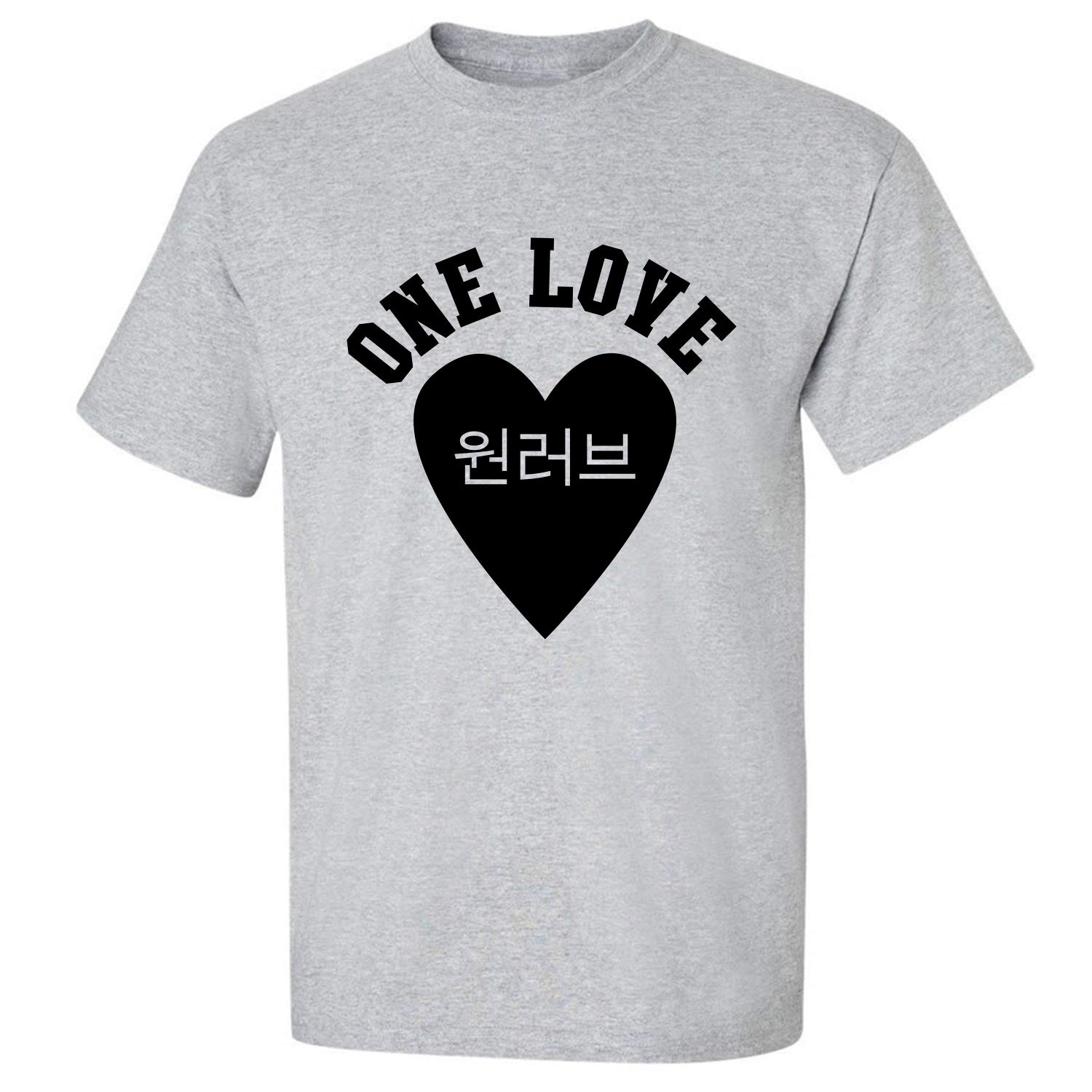 Korean One Love Adult T-Shirt in Sport Grey - XXX-Large