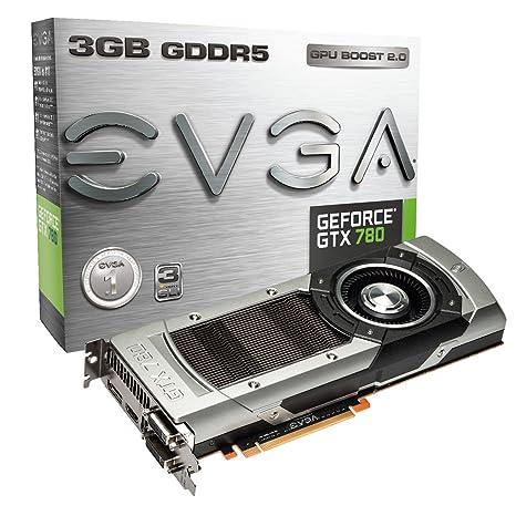 EVGA GeForce GTX 780 - Tarjeta gráfica (3 GB GDDR5, PCI Express 3.0, 863 MHz/900 MHz)
