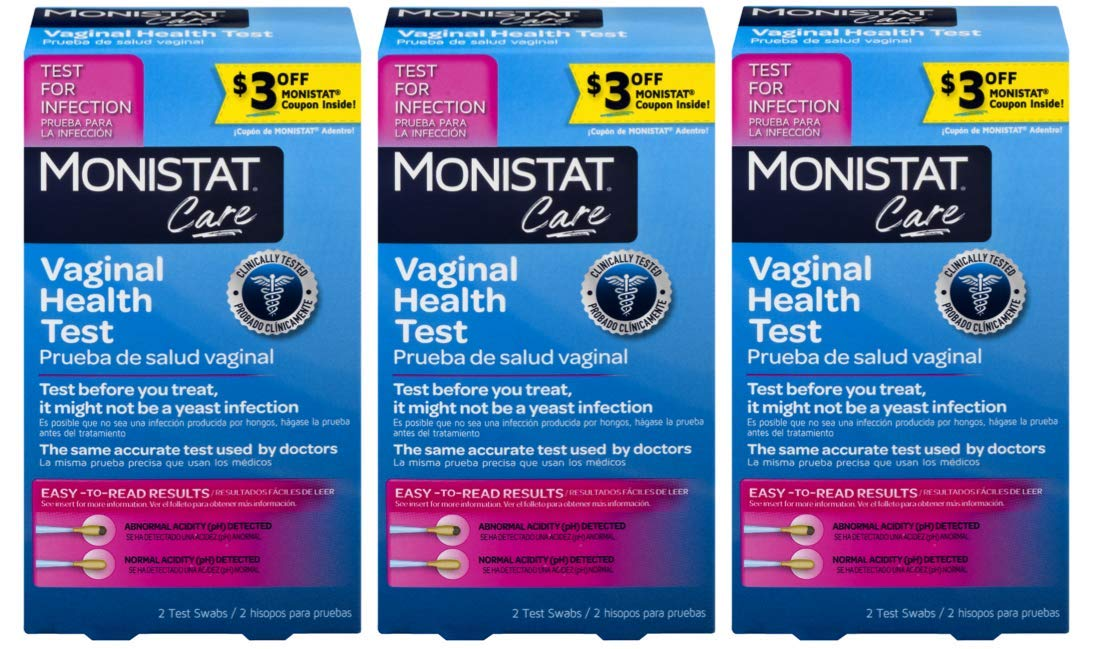 Monistat Care Vaginal Health Test | pH Test | 2 Swabs | 3 Pack by MONISTAT