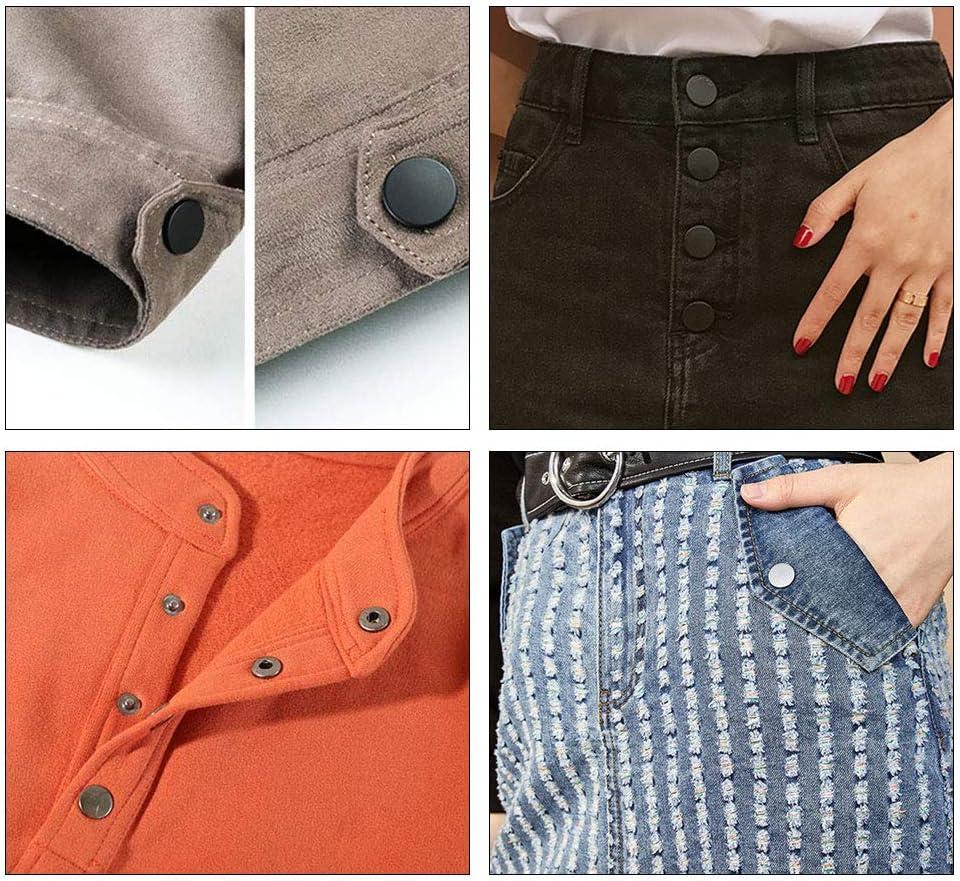 120 pezzi di bottoni a pressione in pelle giacche bracciali jeans borse bottoni a pressione in metallo con 5 strumenti di installazione 4 bottoni a pressione in pelle per vestiti