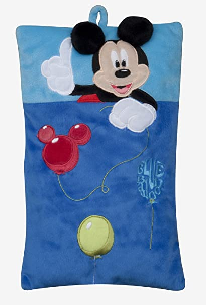 Joy Toy 14423 - Mickey y Minnie - Cojín con bolsillo para pijamas (22 x