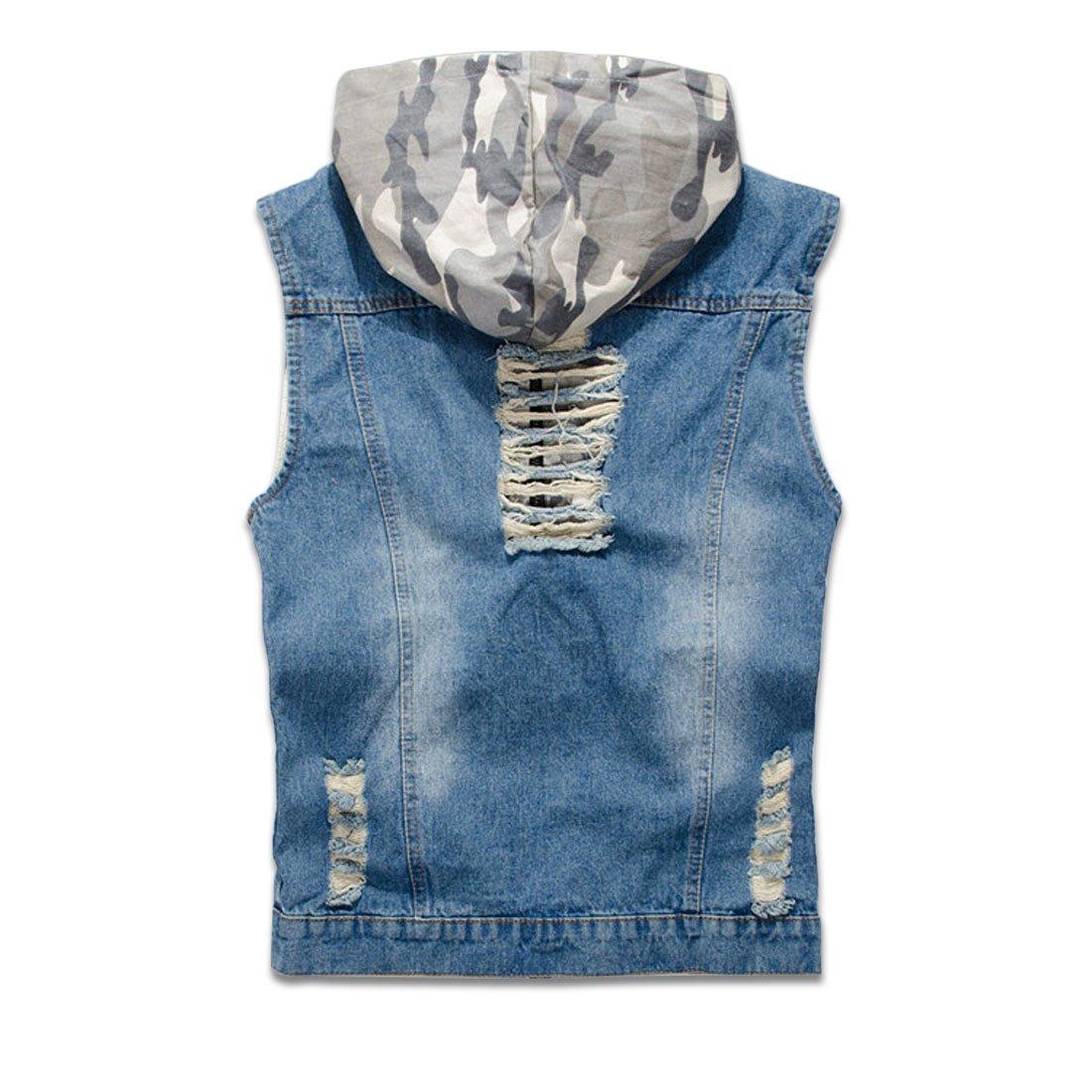 c0d4e66c2ef291 NASKY Men s Fit Retro Ripped Denim Vest Sleeveless Jean Vest and Jacket at  Amazon Men s Clothing store