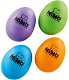 Nino Percussion Plastic Egg Shaker Set, 4 Pieces - For Classroom Music or Playing at Home, 2-YEAR WARRANTY (NINOSET540-2),Aubergine, Grass Green, Orange, Sky Blue