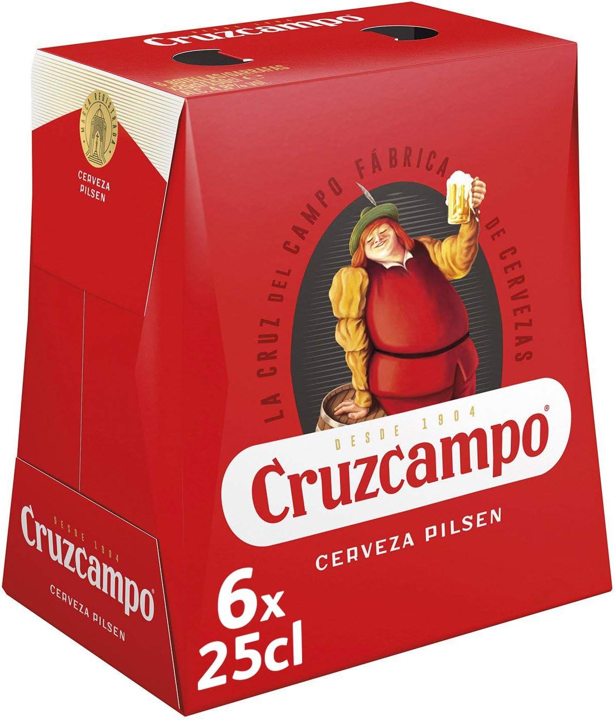 Cruzcampo Cerveza - Pack de 6 Botellas x 250 ml (Total: 1.5 L): Amazon.es: Alimentación y bebidas