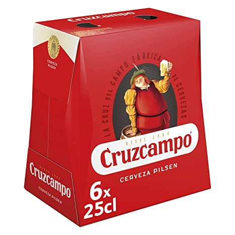 Cruzcampo Cerveza -Pack de 6 x 25 cl - Total: 1,5 l: Amazon ...