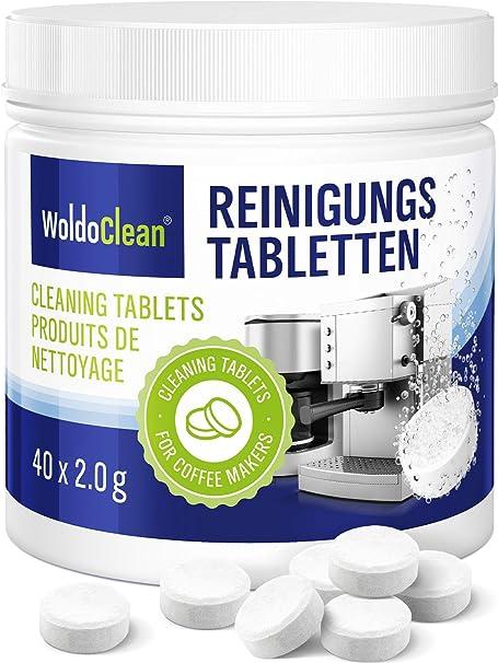 Pastillas para la limpieza de cafeteras automáticas - 40x tabletas limpiadoras compatible con marcas, Delonghi, Seaco, Krups, Senseo, Siemens: Amazon.es: Hogar