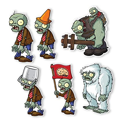 Amazon com: Plants vs  Zombies 2 Wall Decals: Special Front
