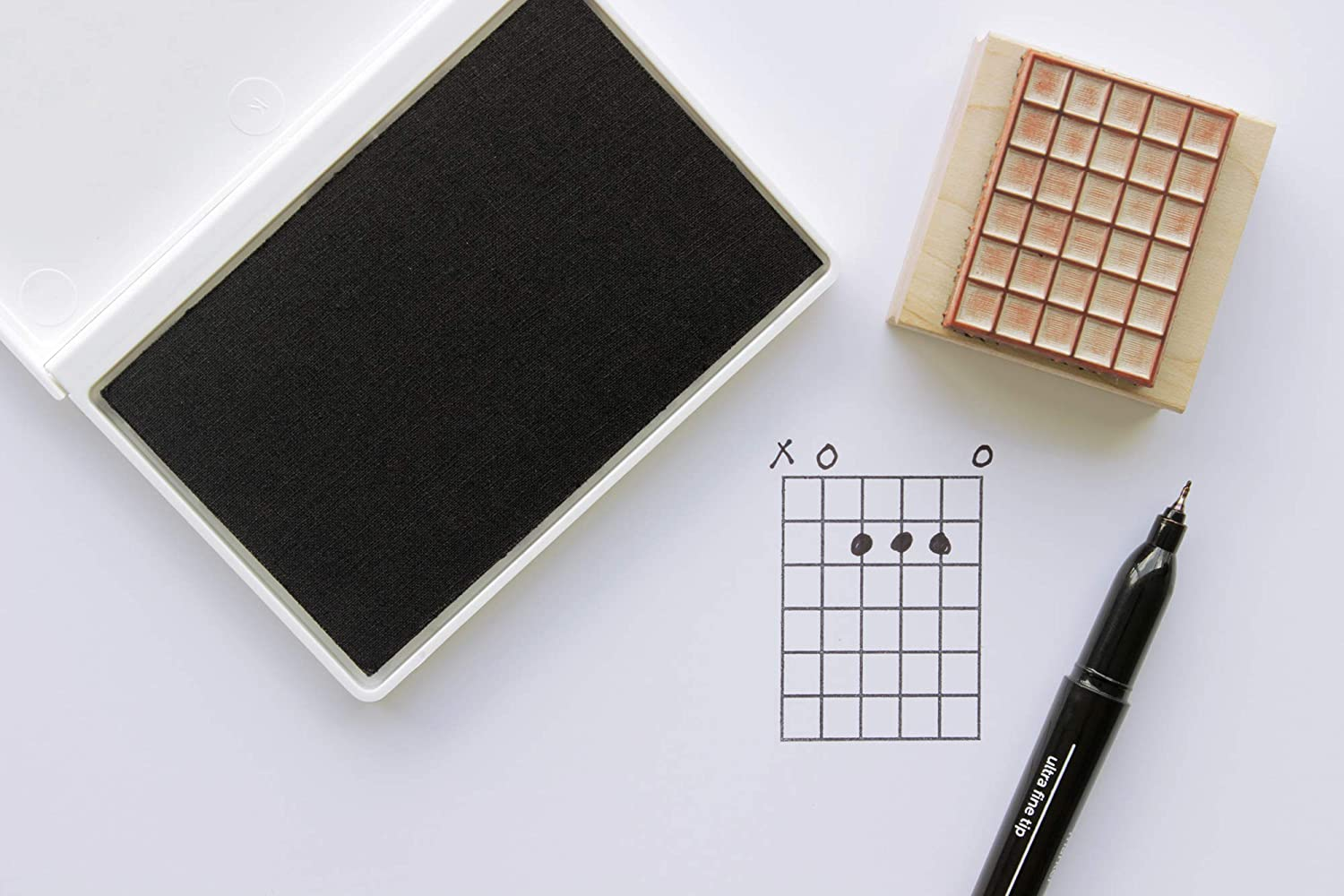 5 Frets Guitar Chord Chart ExcelMark Wooden Rubber Stamp