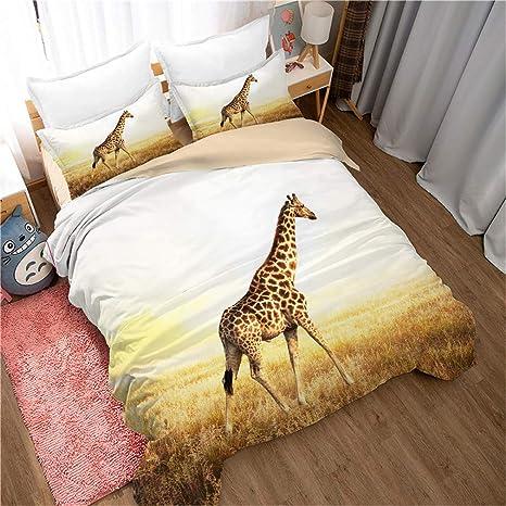 Twin Sleepwish Colorful Giraffe Bedding Watercolor Zoo Animal Bed Set 3 Pieces Giraffe Bedspread for Girls Boys Kids Bed Comforter Cover Giraffe Gift