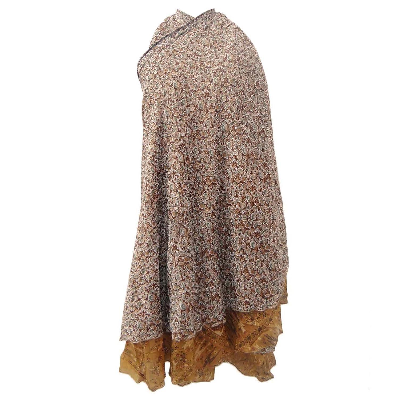 Weinlese-Kleid Polyester Magie Floral Wickelrock plus Größen-lange 37