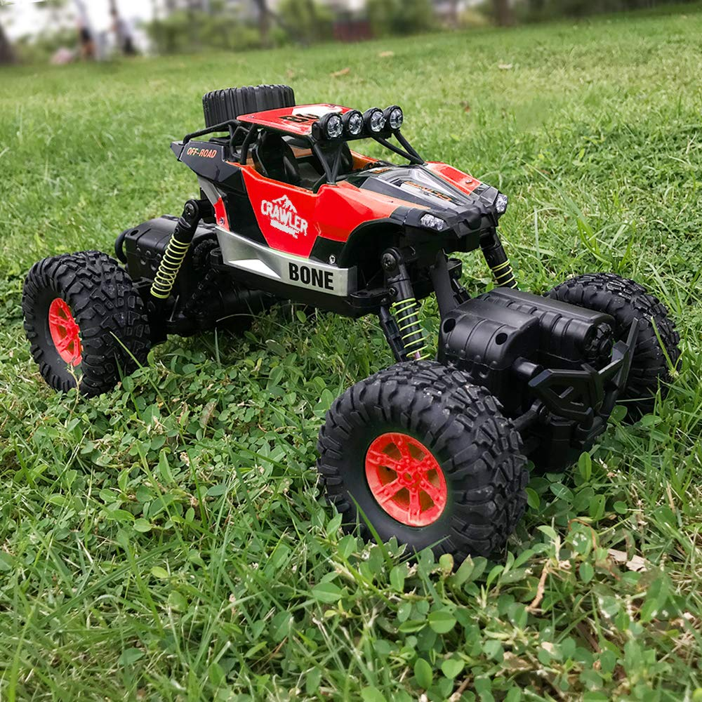 Gizmovine RC Cars 4WD Rock Crawler Large Size Boys Remote Control Cars and Trucks 2.4Ghz Transformer Toy Electronic Monster Truck R/C Off Road for Kids, 2019 Update Version (Red) by Gizmovine (Image #6)