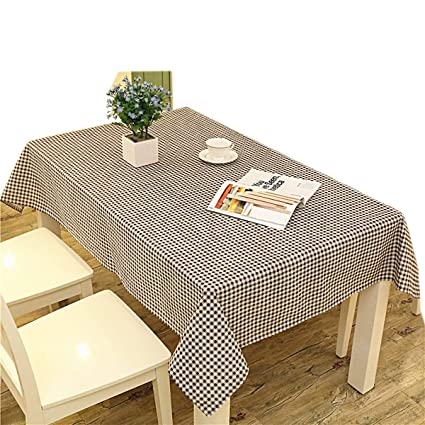 Linen Cotton Outdoor Garden Coffee Picnic Burlap Table Cloth Cover Playing Blanket Mat For Parties Banquet And Celebrations Checkered Pattern