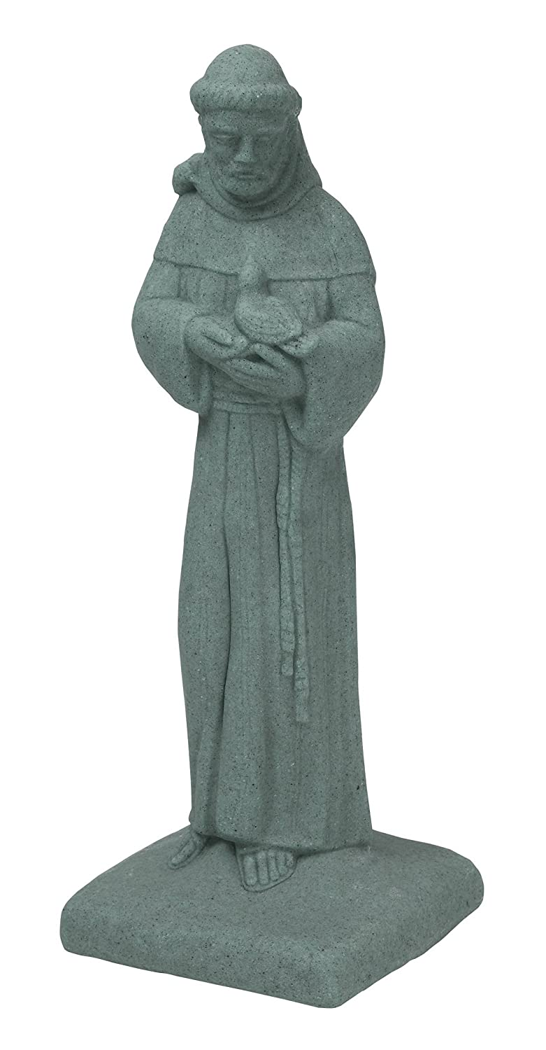 "EMSCO Group Saint Francis Statue – Natural Granite Appearance – Made of Resin – Lightweight – 29"" Height"