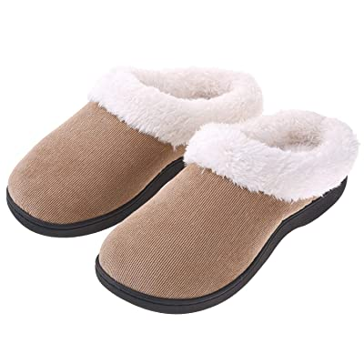 Women's Slippers House Shoes Fuzzy Fluffy Clog Slip On Memory Foam Indoor Outdoor | Slippers
