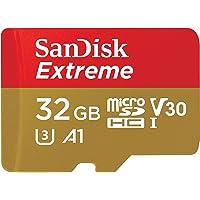 SanDisk Extreme - Tarjeta de memoria 32GB microSDHC para móvil, tablets y cámaras MIL + adaptador SD + Rescue Pro Deluxe…