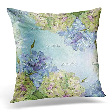 Emvency Throw Pillow Cover Pastel Hydrangea Decorative Pillow Case Magnificent Hydrangea Decorative Pillows