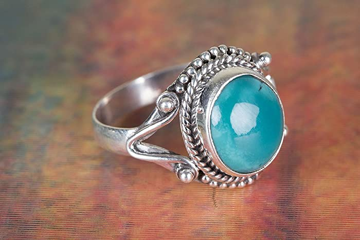 5b3b84032 Turquoise Ring, 925 Sterling Silver, Wedding Ring, Engagement Ring, Blue  Color Ring, Handmade Ring, Bezel Ring, Beautiful Ring, Anniversary Ring, ...